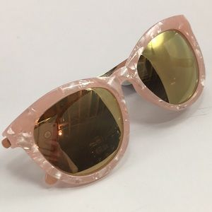 Accessories - NWT Pink Shell Finish Sunglasses w/ metal Temples